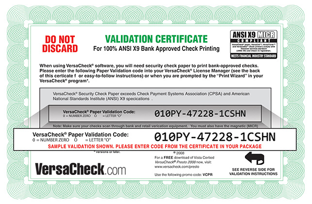 Paper Validation Certificate