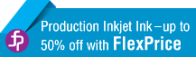 Production Inkjet Ink - up to 50% off with FlexPrice
