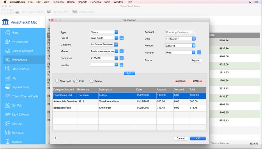 Check Printing software, free download Mac