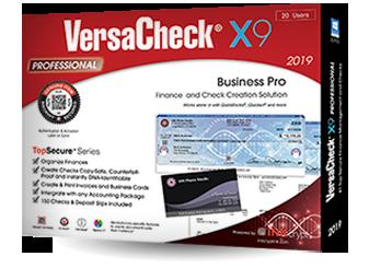 VersaCheck® X9 Professional 2019